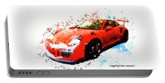 Porsche 911 Gts Portable Battery Charger by Roger Lighterness