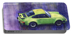 Porsche 911 Turbo Green Portable Battery Charger