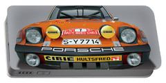 Porsche 914-6 Illustration Portable Battery Charger by Alain Jamar