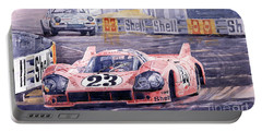 Porsche 917-20 Pink Pig Le Mans 1971 Joest Reinhold Portable Battery Charger