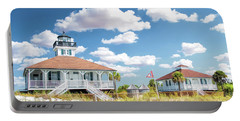Portable Battery Charger featuring the painting Port Boca Grande Lighthouse by Christopher Arndt