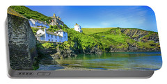 Port Isaac In Cornwall, Uk Portable Battery Charger by Chris Smith