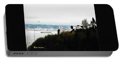 Portable Battery Charger featuring the photograph Port Of Tacoma At Ruston Wa by Sadie Reneau