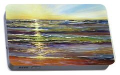 Portable Battery Charger featuring the painting Port Sheldon by Sandra Strohschein