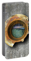 Portable Battery Charger featuring the mixed media Portal by Tony Rubino