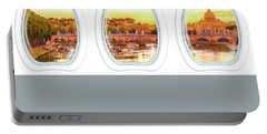 Porthole Windows On Rome Portable Battery Charger