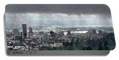Portland After A Morning Rain Portable Battery Charger by Don Schwartz