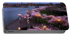 Portland Cherry Blossoms Portable Battery Charger