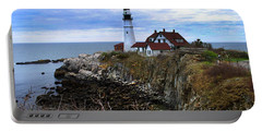 Portland Head In Maine Portable Battery Charger