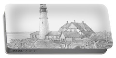 Portland Head Light Drawing Portable Battery Charger