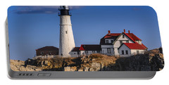 Portland Head Light No. 43 Portable Battery Charger by Mark Myhaver