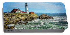 Portland Head Light - Oldest Lighthouse In Maine Portable Battery Charger