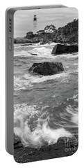 Portland Head Light Under Heavy Skies  -88356 Portable Battery Charger