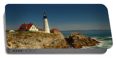 Portland Head Lighthouse 2 Portable Battery Charger by Sherman Perry