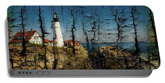 Portland Head Lighthouse 5 Portable Battery Charger by Sherman Perry