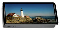 Portland Head Lighthouse 7 Portable Battery Charger by Sherman Perry