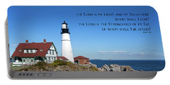 Portable Battery Charger featuring the photograph Portland Head Lighthouse by Steven Frame