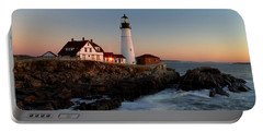 Portland Head Lighthouse Sunrise Portable Battery Charger