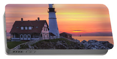 Portland Head Lighthouse Sunrise Portable Battery Charger