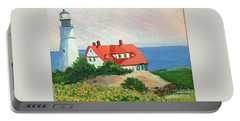 Portland Headlight With Brown Eyed Susans Portable Battery Charger