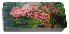 Portland Japanese Maple Portable Battery Charger by LaVonne Hand