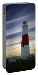 Portland Lighthouse At Sunset Portable Battery Charger