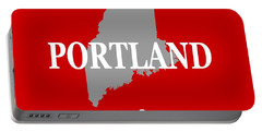 Portable Battery Charger featuring the photograph Portland Maine State City And Town Pride  by Keith Webber Jr