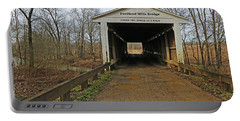 Portland Mills Covered Bridge Indiana 2 Portable Battery Charger