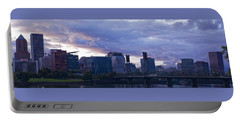 Portable Battery Charger featuring the photograph Portland Oregon Panorama by Jonathan Davison