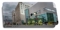 Portable Battery Charger featuring the photograph Portland Public Library, Portland, Maine #134785-87 by John Bald