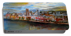 Portland Waterfront From Broadway Bridge Portable Battery Charger