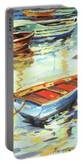 Portable Battery Charger featuring the painting Portofino Passage by Rae Andrews