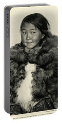 Portrait Girl Child Smith Sound Eskimo Tribe North Greenlan Portable Battery Charger