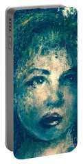 Portrait In Blue Portable Battery Charger
