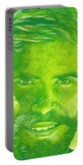 Portrait In Green Portable Battery Charger