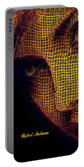 Portable Battery Charger featuring the digital art Portrait In Mesh by Rafael Salazar
