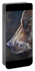 Portrait Of A Bear Portable Battery Charger