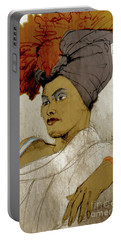 Portrait Of A Caribbean Beauty Portable Battery Charger