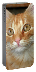 Portrait Of A Cat Portable Battery Charger