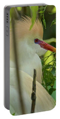 Portrait Of A Cattle Egret Portable Battery Charger