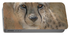 Portrait Of A Cheetah Portable Battery Charger