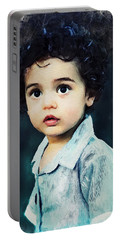 Portrait Of A Child Portable Battery Charger