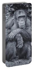 Portrait Of A Chimp Portable Battery Charger