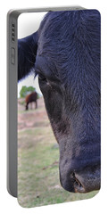 Portrait Of A Cow Portable Battery Charger