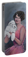 Maggie And Caruso -portrait Of A Flapper Girl Portable Battery Charger