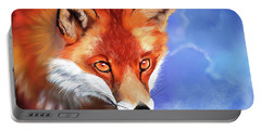 Portrait Of A Fox Portable Battery Charger