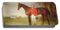 Portrait Of A Gentleman With His Horse Portable Battery Charger