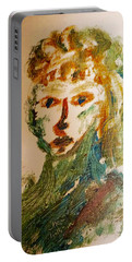Portrait Of A Girl  Portable Battery Charger by Shea Holliman