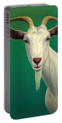 Portrait Of A Goat Portable Battery Charger by James W Johnson