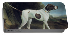 Portrait Of A Liver And White Pointer Portable Battery Charger by George Garrard
